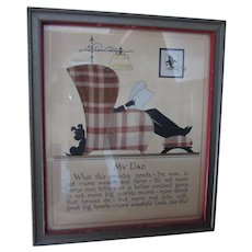 My Dad Framed Poem Plaid Wingback Father Gift Buzza Company