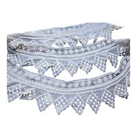 Crochet Lace Trim or Edging in Pointed Scallop Edge