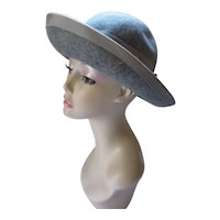 Betmar Charcoal Gray Felt Hat Wide Brim High Crown