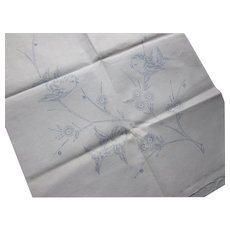 Unfinished Vogart Dresser Scarf for Embroidery Birds on Flowering Branch Free Shipping USA