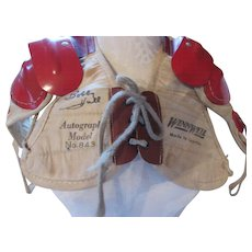 Bobby Hull Autograph Model Kid's Shoulder Pads Made in Canada Winn Well