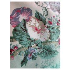 Chintz Floral Fabric Angelica Cyrus Clark 1991 7 Yards