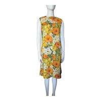 1960 Era Summer Sheath Citrus Colors Home Tailored