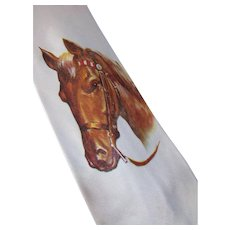 Western Style Horse Theme Unisex Tie Brown Horse on Oyster Tone by Master Prints Arco Free Shipping USA