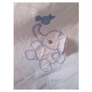 Cutest Baby Blanket Cover with Pink Elephants and Blue Accessories