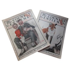 Pair The Country Gentleman Magazine 1922 1923 Illustrations Advertisements Articles for American Farmer and Family