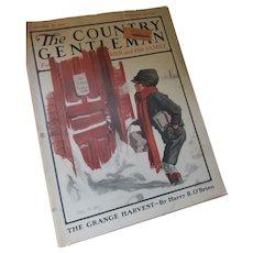 Country Gentleman Magazine January 27 1923 Angus McDonald Illustrator Many Ads
