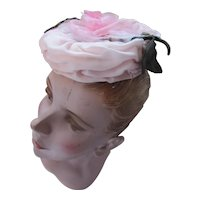 Pretty in Pink Bridesmaid Hat Topper Pink Rose