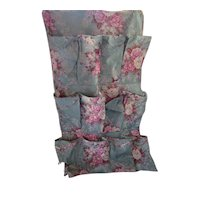 Shoe Holder in Muted Floral Pattern for Re-Purposing or Salvage