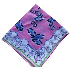 Child Handkerchief Hankie Neon Pink Vinyl Record Party