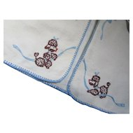 Infant or Doll Flannel Wrap Cutest Ever with Poodle Embroidery