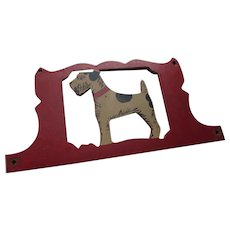 Farmhouse Style Painted Wood Terrier Wall Hanging