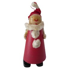 Santa Clause Wood Ramp Walker Doll Made in USA Red, White, Black