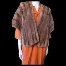 Mid Century Mink Stole in Medium Brown from Daytons