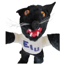 Eastern Illinois University Scary Black Panther Stuffed Toy Mascot Styled and Created by Mascots Inc Leeds Massachusetts