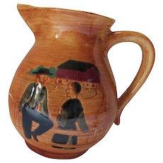 Pennsbury Pottery Pitcher Amish Pa Dutch Pattern