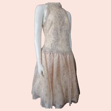 Ashes of Rose Lace Dress Cache by Bari Protes