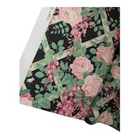 Cottage Style Fabric Sharon Kessler for Concord Pink Roses on Trellis