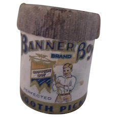 Banner Boy Tooth Picks Cylinder Banner Wholesale Groceries Chicago