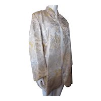 Gold & Silver Brocade Jacket Asian Influence