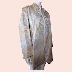 Gold & Silver Brocade Jacket Asian Influence
