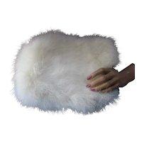Snow White Winter Rabbit Fur Muff For Fashion or Wedding