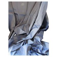 Length of Fabric Ice Blue Silky Shantung Fabric Wonderful Drape Four Yards