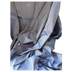 Length of Fabric Ice Blue Silky Shantung Fabric Wonderful Drape Four Yards
