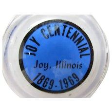 Joy 1969 Centennial Glass Ashtray Joy Illinois Mercer County