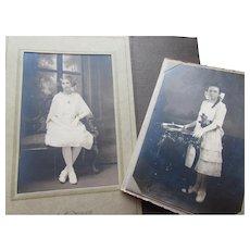 Deco Era 1920 1930 Photo Portraits of Young Graduates Deco Style Photo Mounts