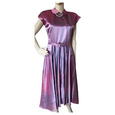 Mid Century Dress in Lavender Iridescent Taffeta for Theater or Re-Purposing