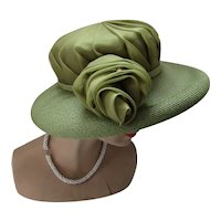Wide Brim Hat Kiwi & Avocado Custom Made Stephen Anne
