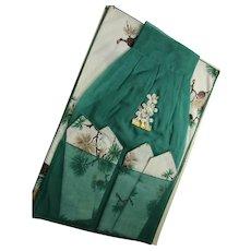 Boxed Apron Napkins Table Mats MIB Pine Cone Theme Bouquet Linens
