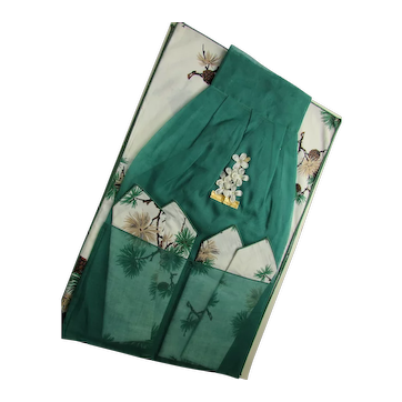 Boxed Apron Napkins Table Mats MIB Pine Cone Theme Bouquet Linens