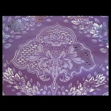 Fantastic Foil Wallpaper 1970's in Lavender and Silver Merge Wallpaper Five Yards