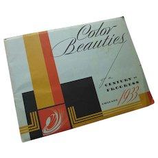 Century of Progress International Exposition Chicago 1933 Color Beauties Booklet