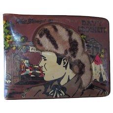 Davy Crockett Walt Disney Wallet Circa 1955 with Faux Fur Insert