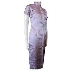 Cheongsam Style Dress Iridescent Lavender Ching Company Chicago Hong Kong