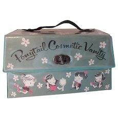 Cutest Ponytail Cosmetic Vanity Tote 1950 Era