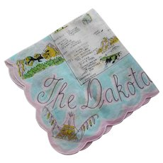 The Dakotas Handkerchief Hankie in Pink and Aqua
