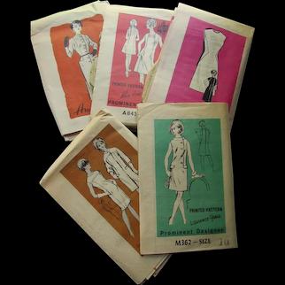 Five 1960 Era Mail Order Dress Patterns Anne Adams Reader Mail