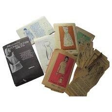 Six 1960 Era Mail Order Patterns Marian Martin Woman's Day