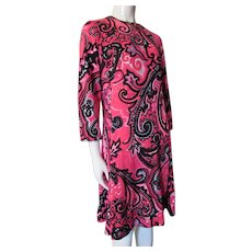 Psychedelic Knit Sheath Neon Pink Paisley Anika Stockholm