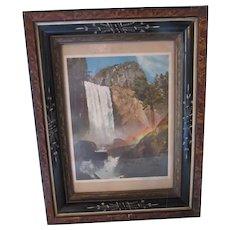 Victorian Era Eastlake Style Picture Frame Vernal Falls Yosemite