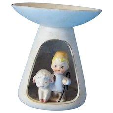 Holt Howard 1959 Holiday Figurine Shadowbox Candleholder Shepherd & Lamb