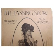 The Passing Show by A B Wenzell 1900 Copyright Collier Over Size Color and Black and White Drawings