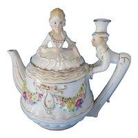 Musical Tea Pot Tea for Two Lady Gentleman Figural Design