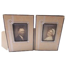 Deco Style Paper Frame Photo Mount Man Woman Photo Booth Tinted Coloring
