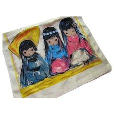 DeGrazia Linen Kitchen Towel 3 Native American Children