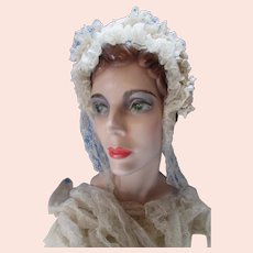 Romantic 1920 Era Wedding Veil in Lace & Lily of the Valley